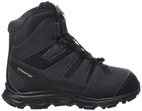 Salomon Synapse Winter Ts Cswp J, Chaussures de Randonnée Garçon noir (Negro (Black / Black / SI))