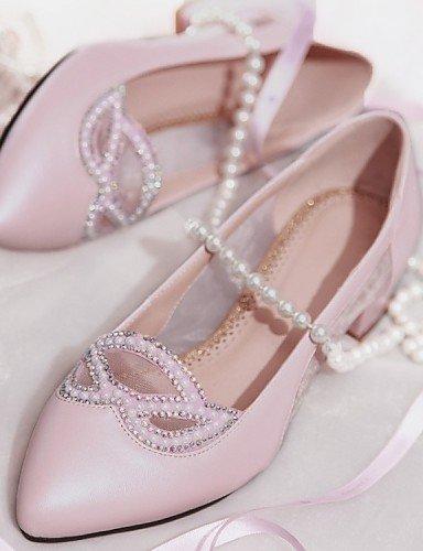 ZQ Scarpe Donna - Mocassini - Ufficio e lavoro / Formale / Casual - A punta / Chiusa - Quadrato - Tulle / Finta pelle - Blu / Rosa / Bianco , pink-us9.5-10 / eu41 / uk7.5-8 / cn42 , pink-us9.5-10 / eu pink-us8.5 / eu39 / uk6.5 / cn40