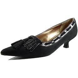 Ornela Brenti 33041-601 Damen Schuhe Premium Qualität Western Pumps Schwarz (schwarz) [EU 38.0]