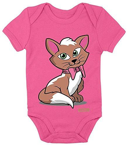 arm Kätzchen Schleife Tiere Zoo Plus Geschenkkarten Einhorn Fuchsia 3-6 Monate ()