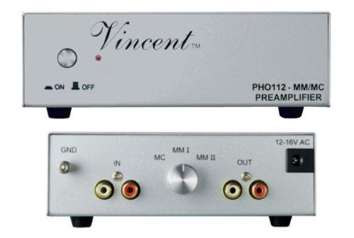 Vincent PHO-112 Préampli phono MM/MC, argent