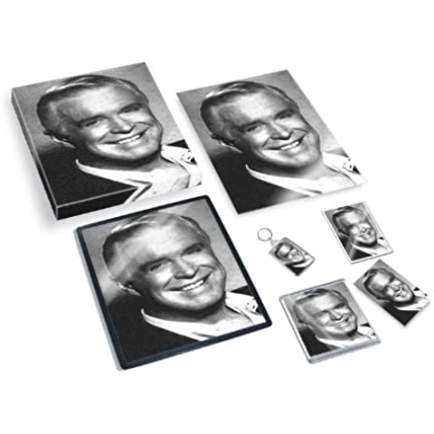 GEORGE PEPPARD - Original Art Gift Set #js001 (Includes - A4 Canvas - A4 Print - Coaster - Fridge Magnet - Keyring - Mouse Mat - Sketch Card)