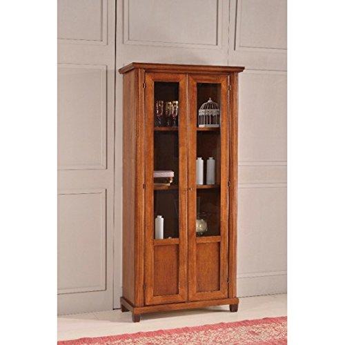 Estense-Bücherregal aus Holz Farbe Walnuss dunkel-L 87P40H 199-475F - Dunkle Walnuss Bücherregal