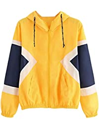 Niñas mujeres otoño invierno cardigan fiesta elegante, Sonnena ❤️ Rebeca de manga larga para mujer Thin Skinsuits chaqueta con capucha con bolsillos con cremallera Chaqueta deportiva