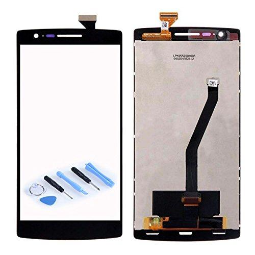 Display LCD Komplett Einheit für ONEPLUS One 1+ A0001 Reparatur Schwarz + Werkzeug Opening Tool - Parkett-tool