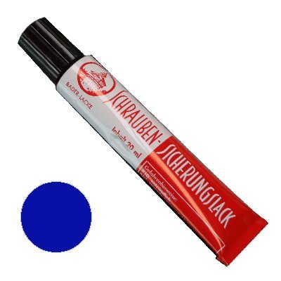Preisvergleich Produktbild Schraubensicherungslack 20 ml. in Tube blau- Sicherungslack - Schraubenkleber
