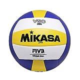 Mikasa VSO-2000 Balón de Voleibol, Adultos Unisex, Azul/Amarillo, 5