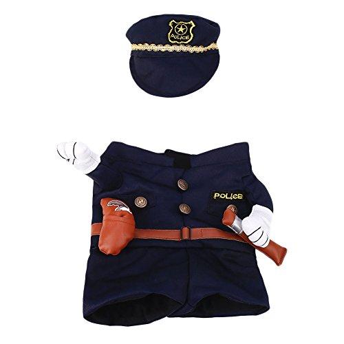 Kicode Haustier-Welpe Hund Kleidung Mantel Kostüm Anzug Kleidung Einheitliche Outfit Bekleidung Krankenschwester Polizis