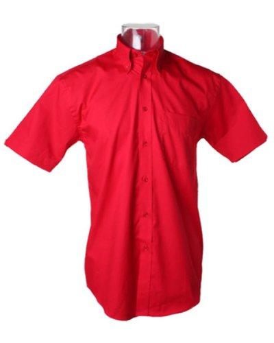 Kustom Kit Corporate Oxford Shirt Short Sleeved Rot - Rot