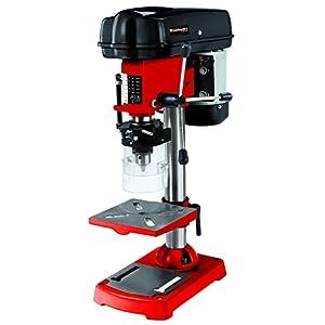 Einhell 4250670 Taladro de columna(350W, 580–2650U/min, inclinable, orientable y ajustable, de perforación, virutas de mesa, protección), Rojo