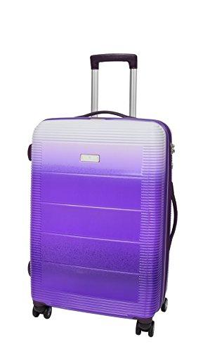 SUPER Qualität 4 Rad Gepäck Feste harte Schale Multi Farbig Koffer Erweiterbar TSA-Sperre Reisetasche - Galaxy (M)