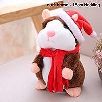 Henreal Cheeky Hamster Hablar Eléctrico Caminar Mascotas Navidad Juguete Hablar Record Hamster Gift