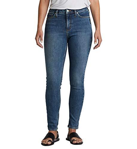 Silver Jeans Co. Damen Plus Size High Note Skinny Jeans, Power Stretch Medium, 16W x 27L - Power-stretch-denim