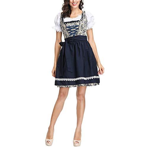 Kostüm Das Bier Deutsche Mädchen - Qeedio Frauen Oktoberfest Bayerisches Kostüm Deutsches Dirndl Kleid Bayerisches Bier Mädchen Dienstmädchen Kleid Oktoberfest Kostüme (XL)