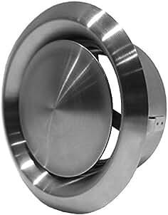 20x 65mm L/üftungsgitter Rund Kamin Luftgitter Edelstahl Silber L/üftung Gitter