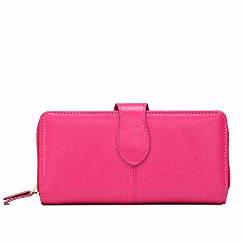 Penao Dame Simple et Pratique Mode rétro Zip Wallet