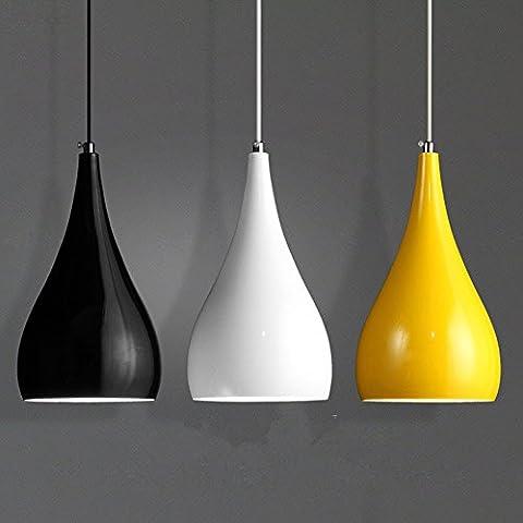 Einfache moderne Kronleuchter/Pendelleuchte/Celling Licht LED-Runde für Restaurant/Bar/Schlafzimmer/Wohnzimmer/Studie/Balkon/Korridor,3head langen Basis mit Birne