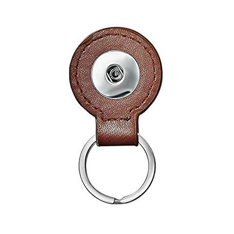 Andante Chunk poches de clés ou pendentif (Chocolat) en cuir pour boutons Lots de Chunks boutons pression