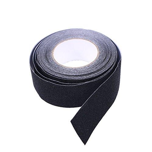 Supvox 10m Rutschfeste Anti-Rutsch-Folie mit hohem Griff für Sicherheit im Innen- und Außenbereich (schwarz) -