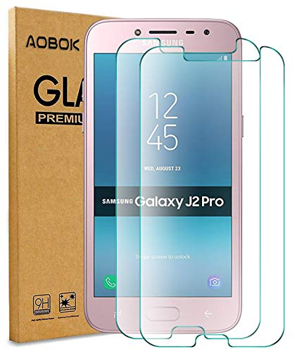 AOBOK [2 Stück] Samsung Galaxy J2 Pro 2018 Panzerglas Schutzfolie, Double Defense Technologie Glas Anti-Öl Anti-Kratzer Anti-Fingerabdruck Bildschirmschutzfolie für Samsung Galaxy J2 Pro 2018
