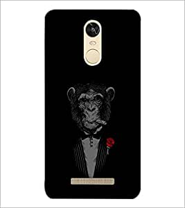 PrintDhaba Chimpanzee D-2348 Back Case Cover for XIAOMI REDMI NOTE 3 (Multi-Coloured)