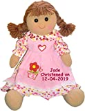 Personalised Christening Doll - First Holy Communion, Dedication, Naming, Baptism Girls Rag Doll Dolly Gift - EASY TO CUSTOMIZE