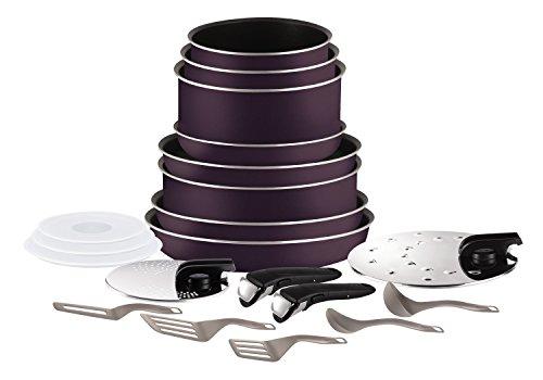 Tefal Ingenio Set, Aluminium, cassis, 20 pièces (Nicht für Induktion geeignet)
