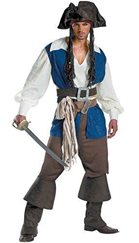RedJade Pirat Kostüm Herren Piraten Kapitän 7-tlg. Komplettes Kostüm Größe L
