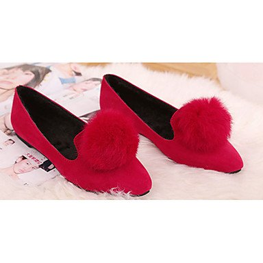... Confortevole ed elegante piatto scarpe donna appartamenti rientrano  Comfort Felpa casual tacco piatto pom-pom ...