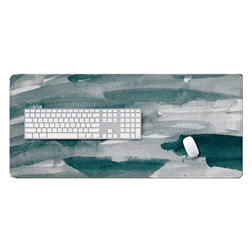 GSDQ Chinese metallische Antiblockier große Windfang Maus-Pad Tastatur-Pad Schreibtischauflage Werbematte 700 x 300 x 3 mm-Grey -