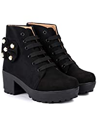Zapatoz Presents Women's/Ladies/Woman/Girls Lightweight Comfortable, Casualwear Tan High Ankle Length Lace-Up Boots