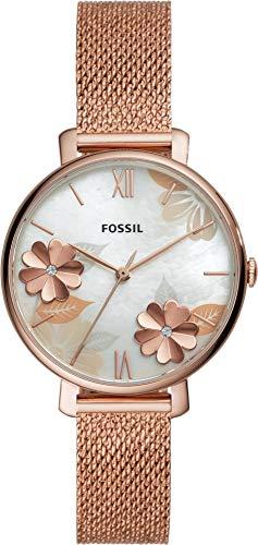 Fossil Damen Analog Quarz Uhr mit Edelstahl Armband ES4534