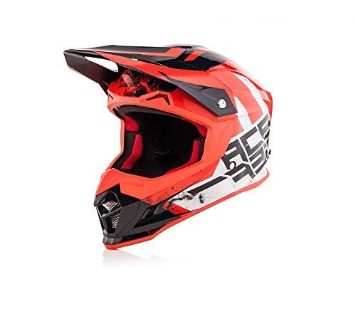 Acerbis casco profile 4 bianco/rosso m