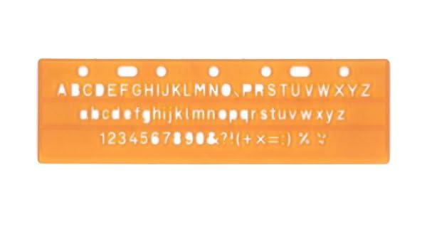 5 Schriftschablonen mit Zahlen und Buchstaben Schablonen Schriftschablone ISO