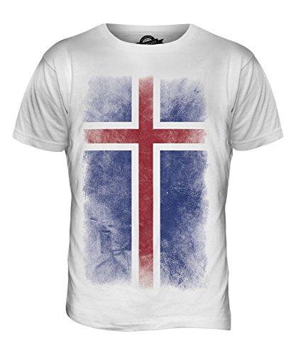 CandyMix Island Verblichen Flagge Herren T Shirt Weiß