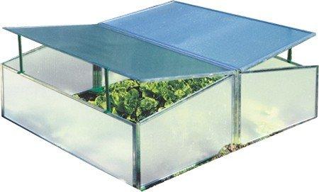 Gartentec Aufzucht Frühbeet Doppelt 1,14 qm, 4 mm starke Hohlkammerplatten, Made in Germany
