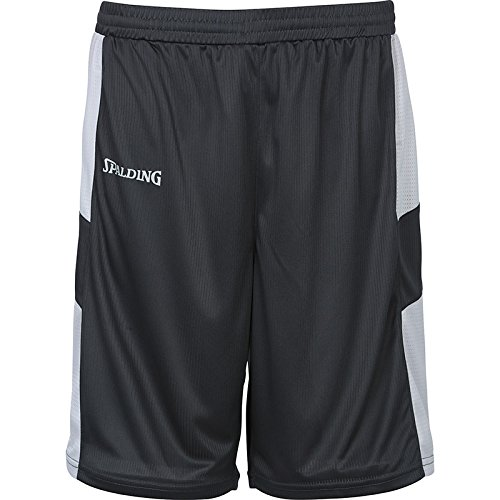 Spalding Herren All Star Shorts Hosen, Anthra/Silber Grau, 2XL (Herren-basketball Silber -)