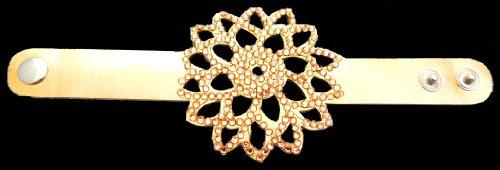 Mandala de pulsera para mujer con brillantes (Oro)