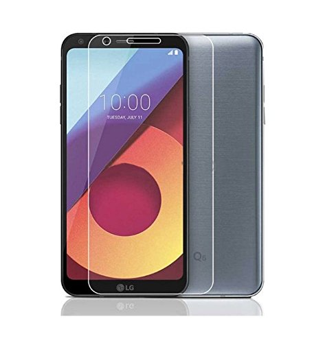 LG Q6 Plus, Tempered Glass, Premium Real 2.5D 9H Anti-Fingerprints & Oil Stains Coating Hardness Screen Protector Guard For LG Q6 Plus