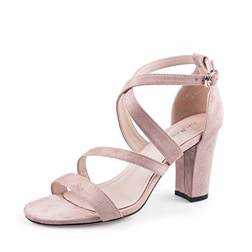 Summer,Sandales En Peluche/Autour De La Ceinture,Rough Avec,High Heels,Chaussures Femme B