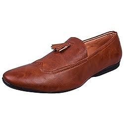 Andrew Scott Mens Tan Loafers