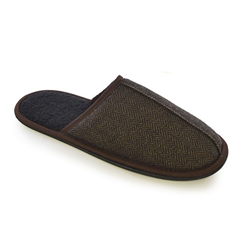 pantofole-invernali-da-casa-tinta-unita-uomo-41-42-eur-marrone
