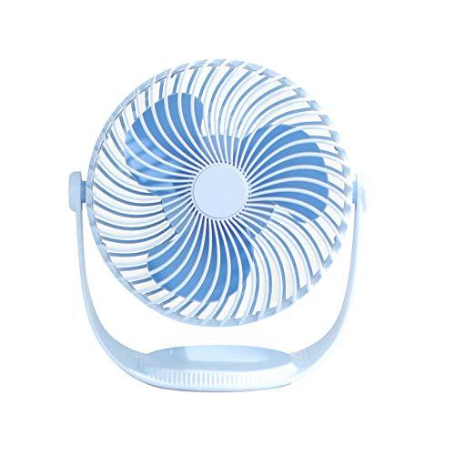 XIALIUX Mini Sieben-Zoll-gestreiften Kleinen Lüfter Handheld-tischventilator USB Tragbaren Kleinen Lüfter Tischventilator-Big Wind, 360 ° -drehung, Geräuschloser Betrieb,Blue - Wachsen Kühlschrank
