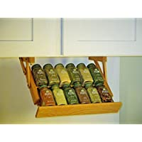 Under Cabinet Mounted Mini Spice Rack (Colonial Maple) by Ultimate Kitchen Storage
