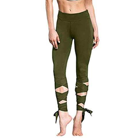Femmes Sportswear,Tonwalk Yoga/Workout/Gym Cropped Leggings Pantalons athlétiques (X-Large, Armée