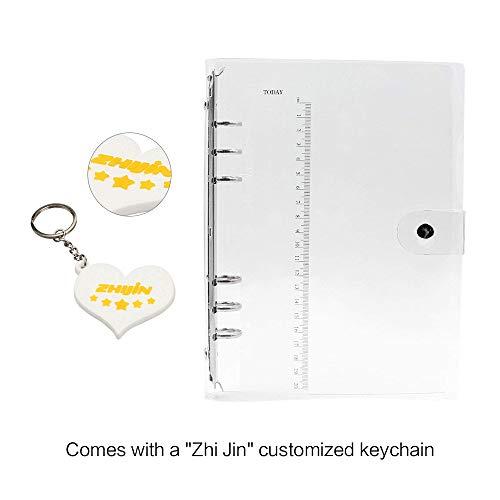 Zhi Jin Standard-Ringbuchhülle, 6Loch, weiches PVC, Transparent  A5-23.5*18cm (A5 Binder)