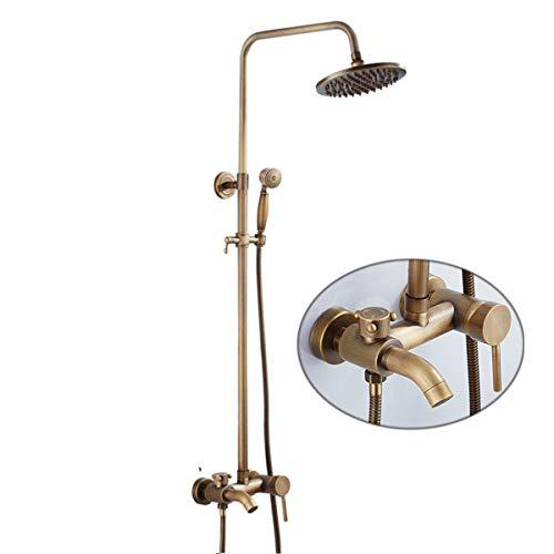 Rozin - Juego completo de grifo de ducha (latón envejecido), diseño retro
