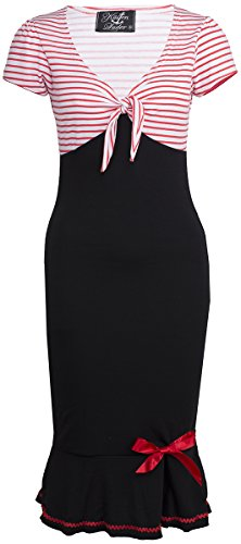 Küstenluder LARISSA Sailor STRIPED Streifen AHOY Pin Up DRESS Kleid Rockabilly