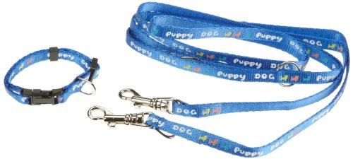 Artikelbild: Trixie 15332 Welpenhalsband mit Leine, HB: 16-23 cm L: 2,00 m, blau