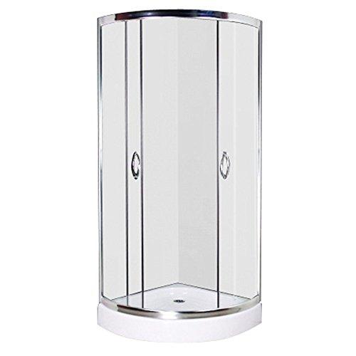 vidaXL Echtglas Duschkabine Dusche Duschabtrennung Glas Runddusche 80 x 80 cm 1